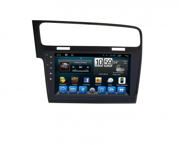 10 Zoll-Touch Screen Android 4,4 Gps-Radio, VW spielen 7 Gps-Navigationsanlage Golf