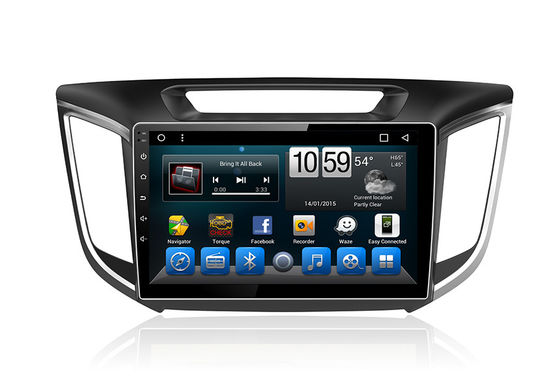China Auto GPS-Einheits-Android-System-Doppelt-Lärm-Radio mit Navigations-Touch Screen Ix25 Creta fournisseur
